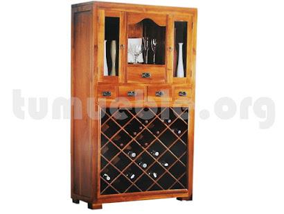 mueble botellero en teca 4111