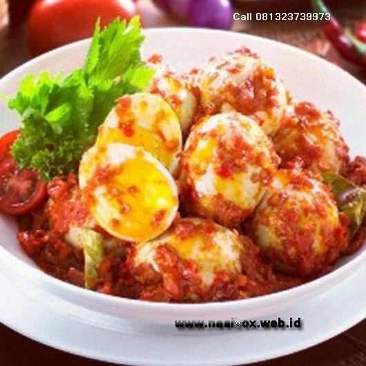 Resep telur pedas sunda nasi box cimanggu ciwidey