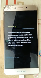 Notice Coolpad Sky 3 fastboot mode