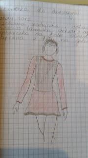 sukienka szkic