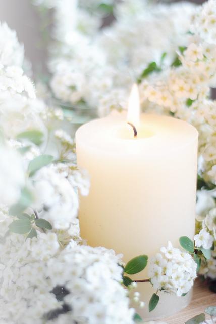 Blumenkranz für Kerzen selber machen