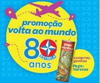 Promoção Volta ao Mundo 80 Anos Estrela estrela.com.br/voltaaomundo