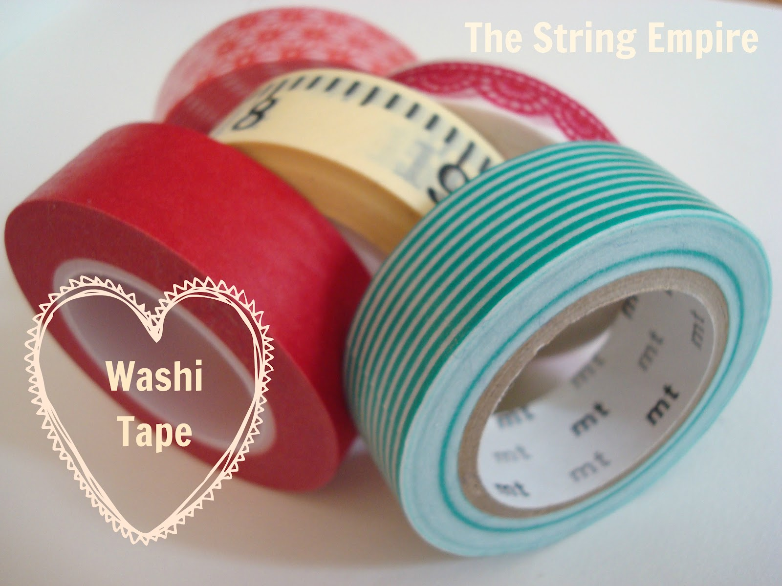 the string empire a new love washi tape. Black Bedroom Furniture Sets. Home Design Ideas