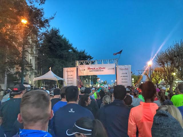 Rock'n'Roll San Francisco Half Marathon Start line