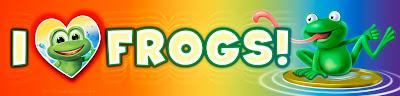 I love Frogs bumper sticker artwork