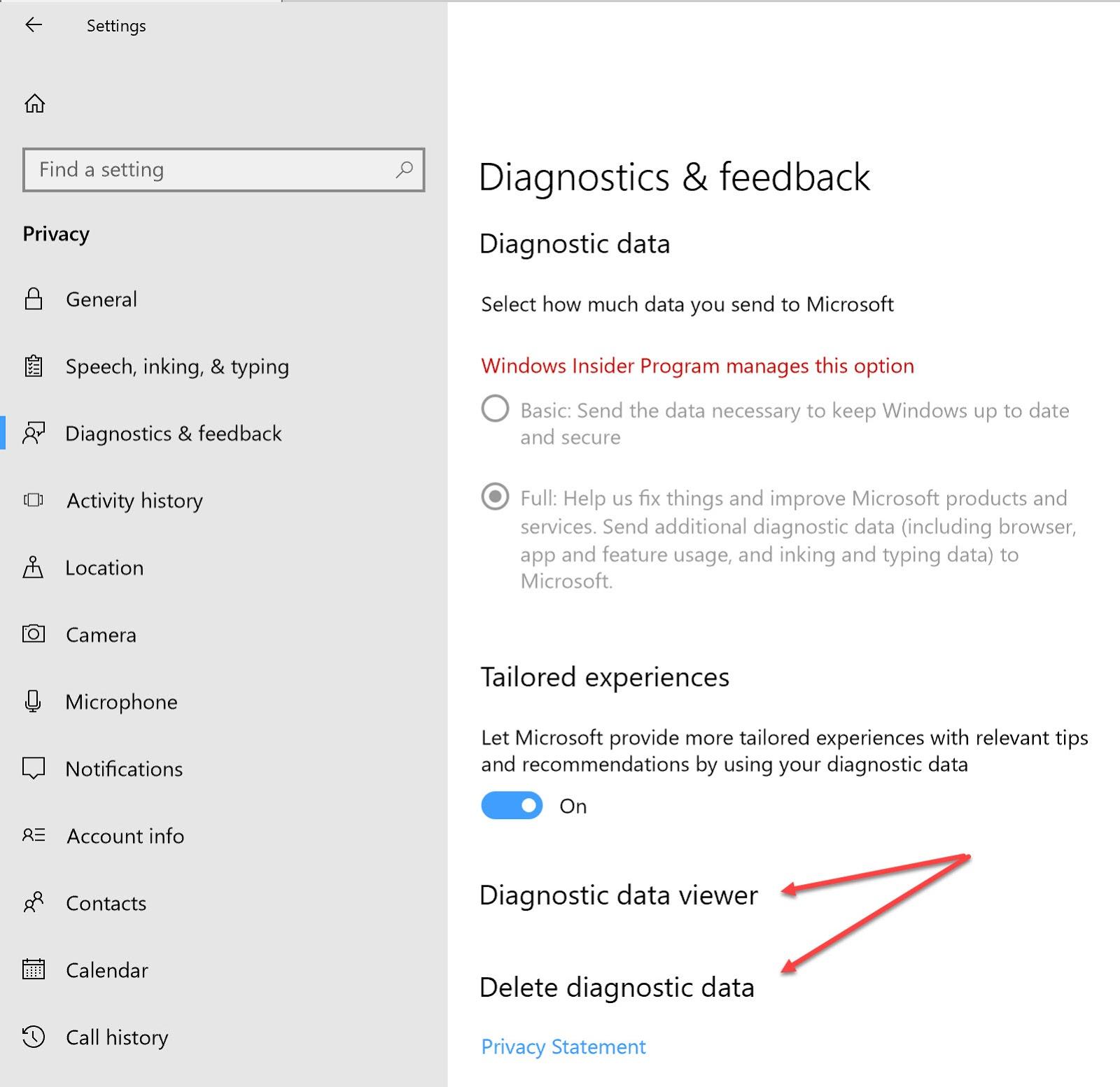 Diagnostics-feedback