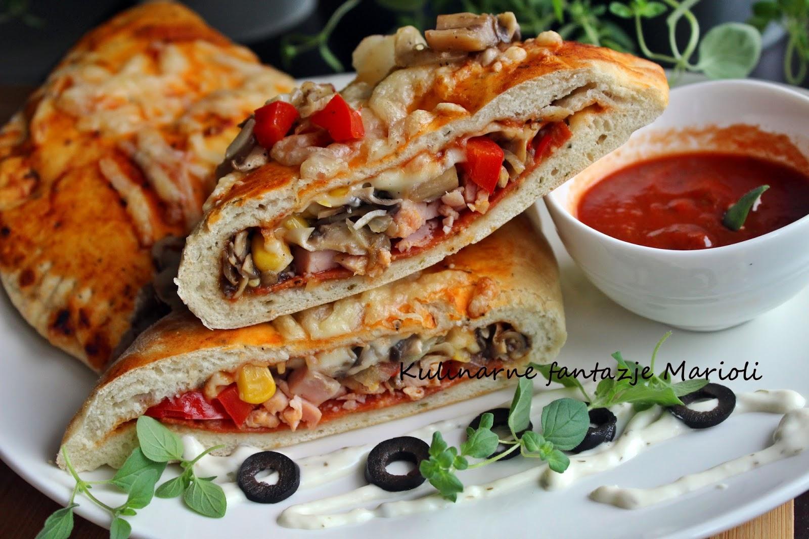 Domowa Pizza Calzone Filmik Kulinarne Fantazje Marioli