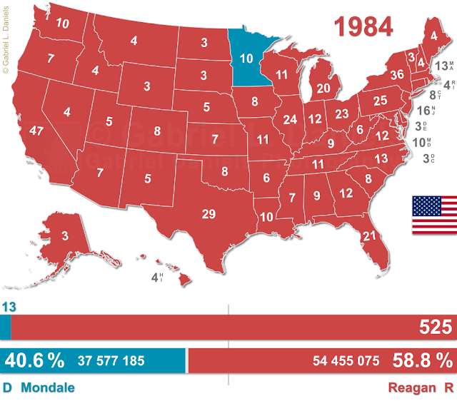 United States of America presidential election of 1984