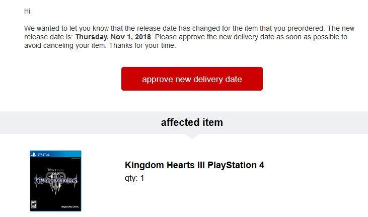 Kingdom Hearts 3 podría lanzarse el 1 de noviembre
