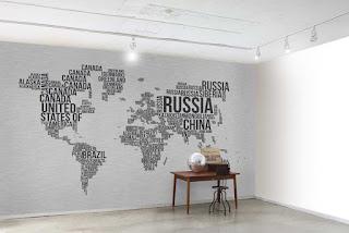 World Map Wallpaper For Walls