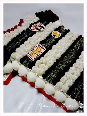 tarta de chuches camiseta de fútbol