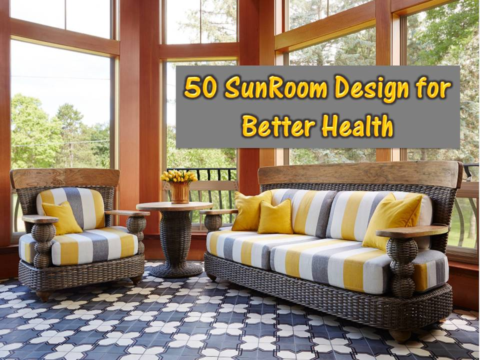 Also known as solarium or conservatory, a sunroom is primarily made of glass. It allows homeowners to enjoy the outdoors safely and comfortably. This one-of-a-kind home feature is a great place to read, invite friends over, or just have a peaceful retreat.   Aside from this, sunrooms have many economic and health benefits. It lowers energy cost because of the natural heating and cooling opportunities it provides. Instead of switching on lights or turning the air conditioner on, homeowners may take advantage of the light and breeze that comes inside a sunroom by nature of its design. Additionally, a sunroom can provide some health benefits such as lowering stress levels and promote good moods because it allows people to appreciate the outdoors without exposing themselves to summer heat.