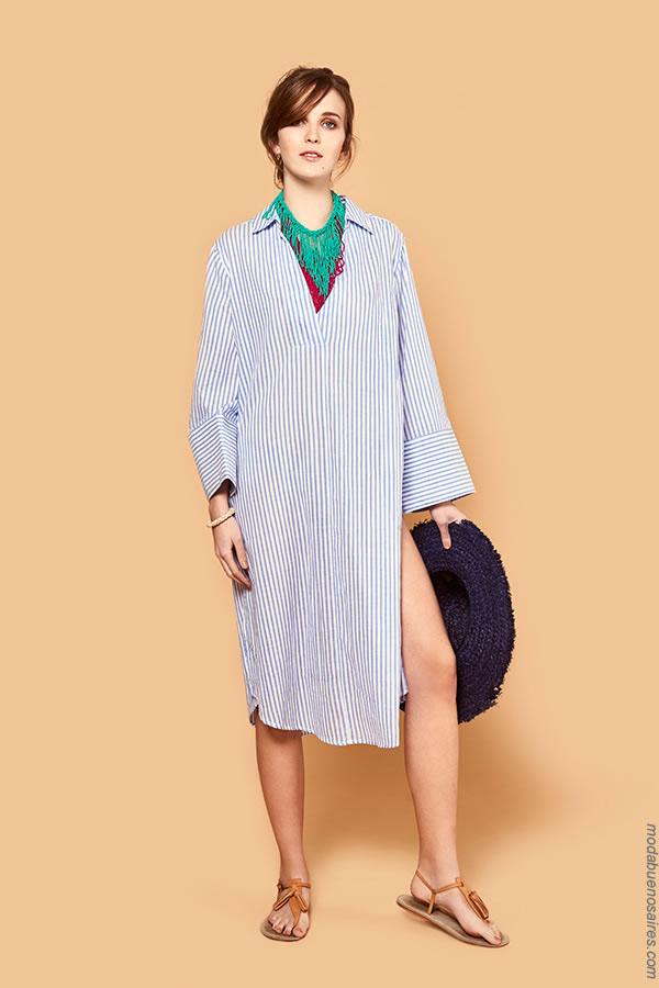 Vestidos primavera verano 2018 camiseros. Moda 2018-