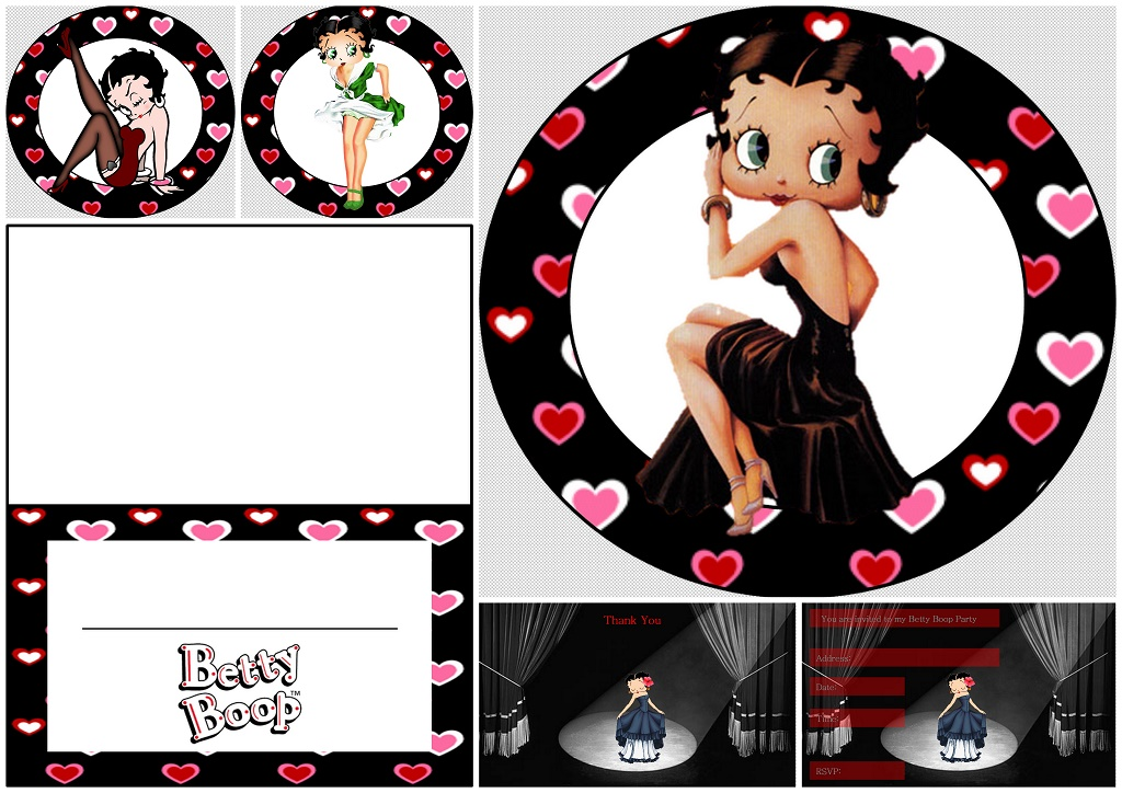 Betty Boop: Free Printable Mini Kit with Hearts.   Oh My Fiesta For ...