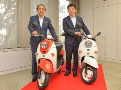 E-Vino-Motor-Listrik-Yamaha-dan-honda