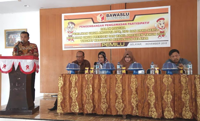 Bawaslu Kab. Kep. Selayar Bahas Pengembangan, Pengawasan Partisipasif Pemilu 2019