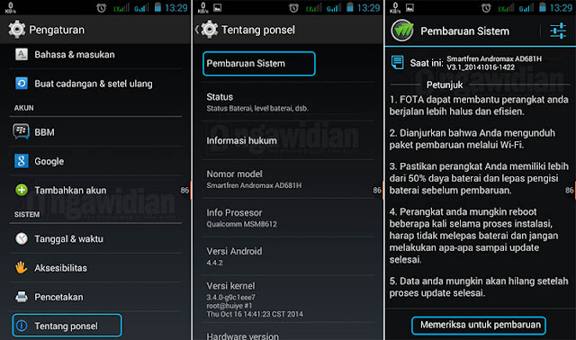 Cara Update OS Android Versi Terbaru