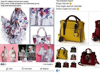 contoh caption promosi tas branded di facebook - WA