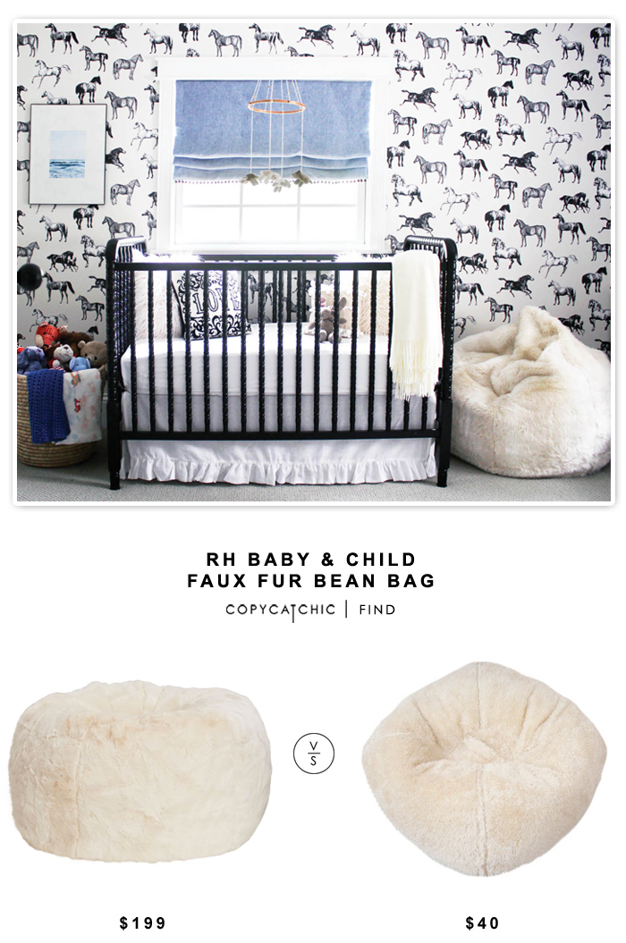 Copy Cat Chic Rh Baby Amp Child Faux Fur Bean Bag