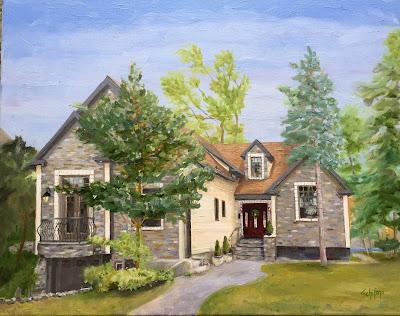 Niagara Falls home, stone front house, kschifano