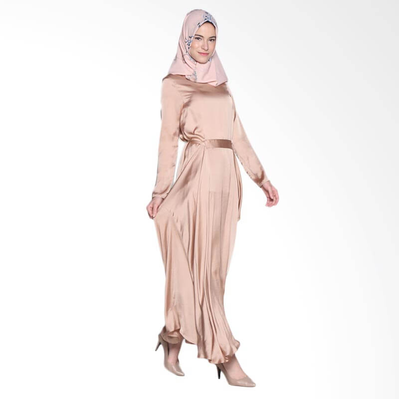 Ria Miranda Oscar Dress Muslim - Soft Brown