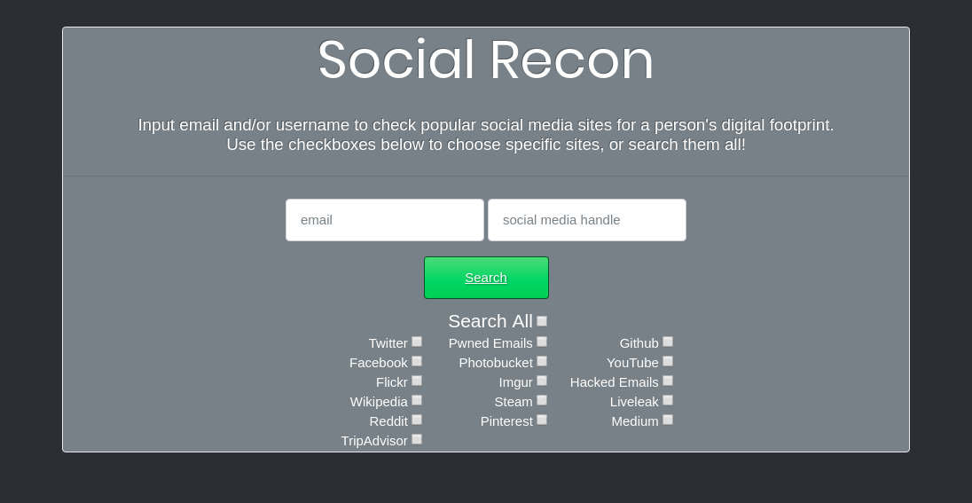 Social Recon - Investigate The Online Presence And Footprint