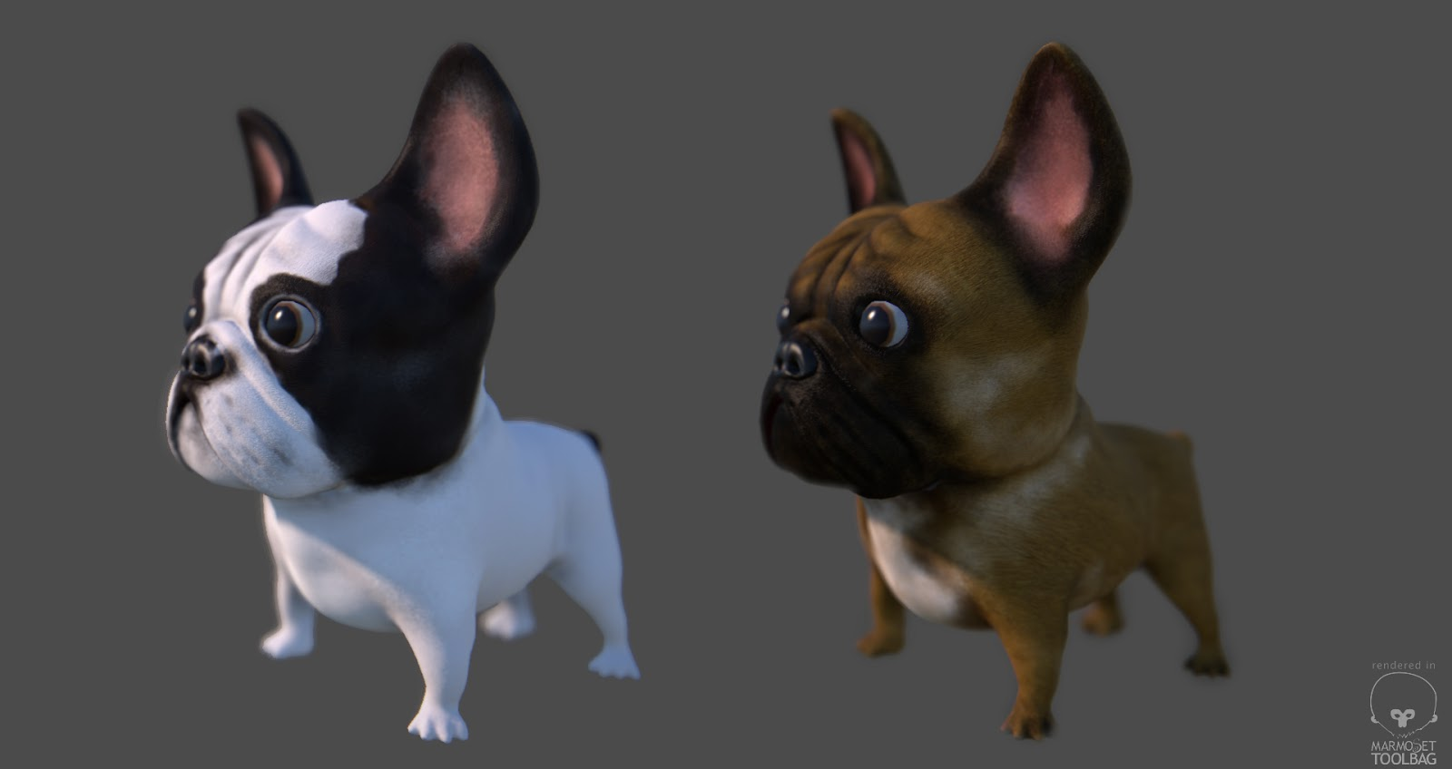 Milan Krstic 3d Art Low Poly Cartoon French Bulldog