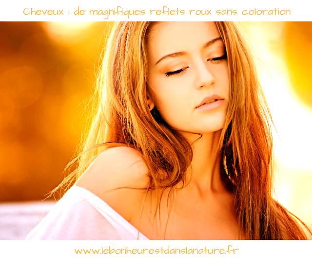 astuce beauté naturelle cheveux roux reflets automne
