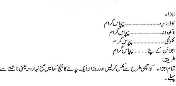 ajwain pierdere în greutate în urdu)