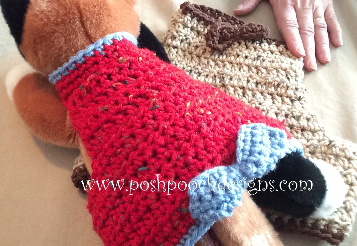 Free Crochet Pattern For Dog Harness : Posh Pooch Designs Dog Clothes: Maxs Dog Harness Crochet ...
