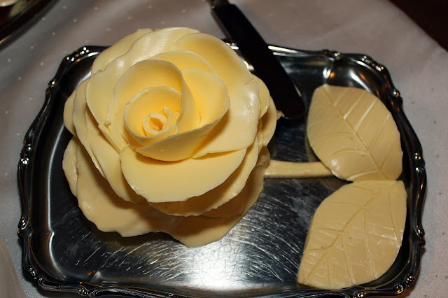 Butter Fashioned into a Rose