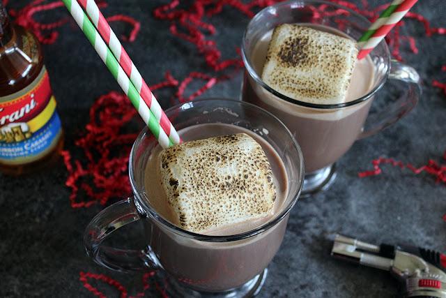 Bourbon Caramel Roasted Marshmallow Hot Cocoa