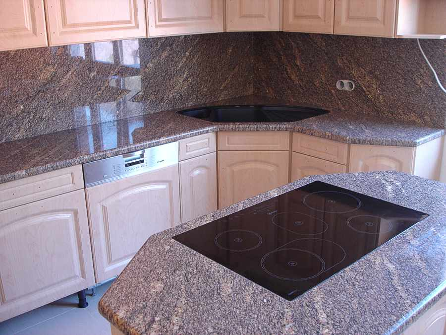 Awesome Pflege Granit Arbeitsplatte Küche Images - Ridgewayng.com ...