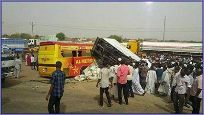 بص مريخ كوستي يتعرض لحادث خطير ووفاة سائق الدفار