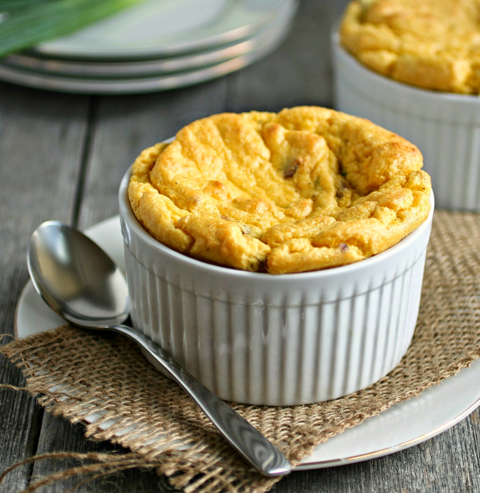 Bacon and Corn Souffle