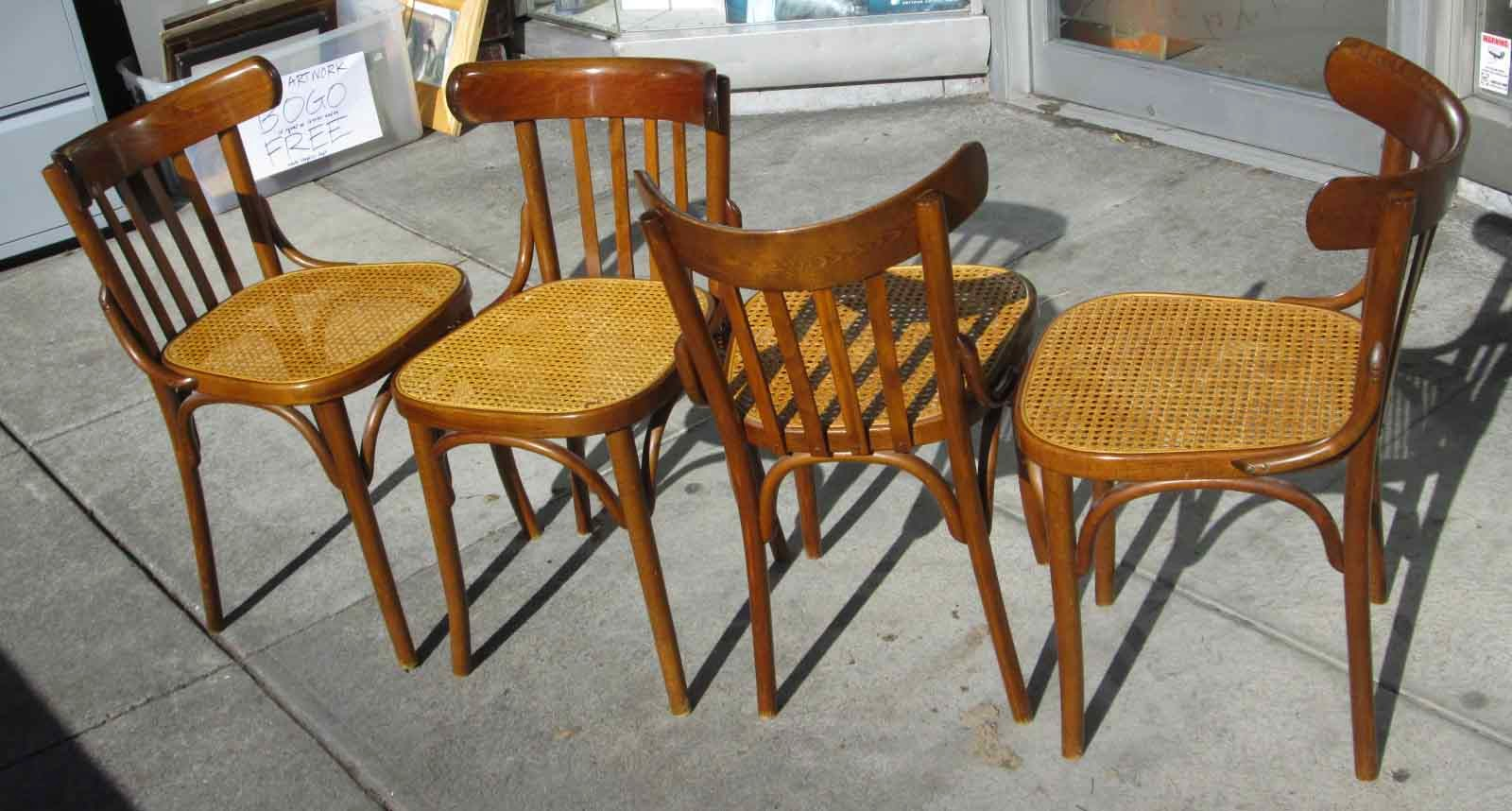 Cane Bottom Chairs Molded Plywood Chair Uhuru Furniture And Collectibles Sold Set Of