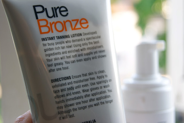 PureTans light tanning range for a natural tan!