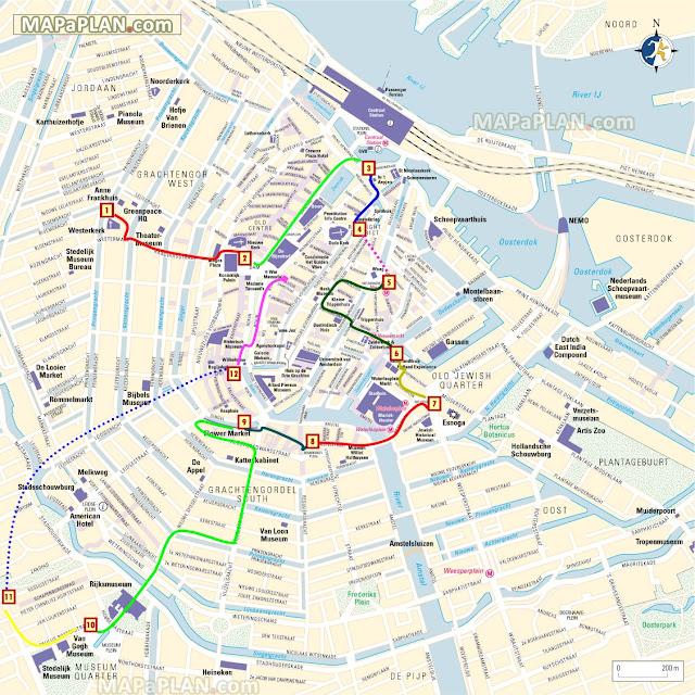 Ruta a pie por Ámsterdam