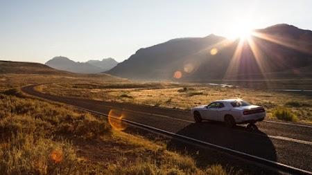 Sunrise drive in Lamar Valley