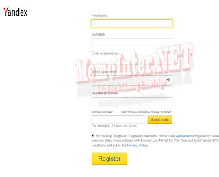 Yandex Webmaster Registration Data