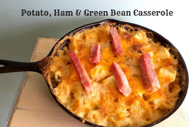 Potato, Ham, Green Bean Skillet Casserole