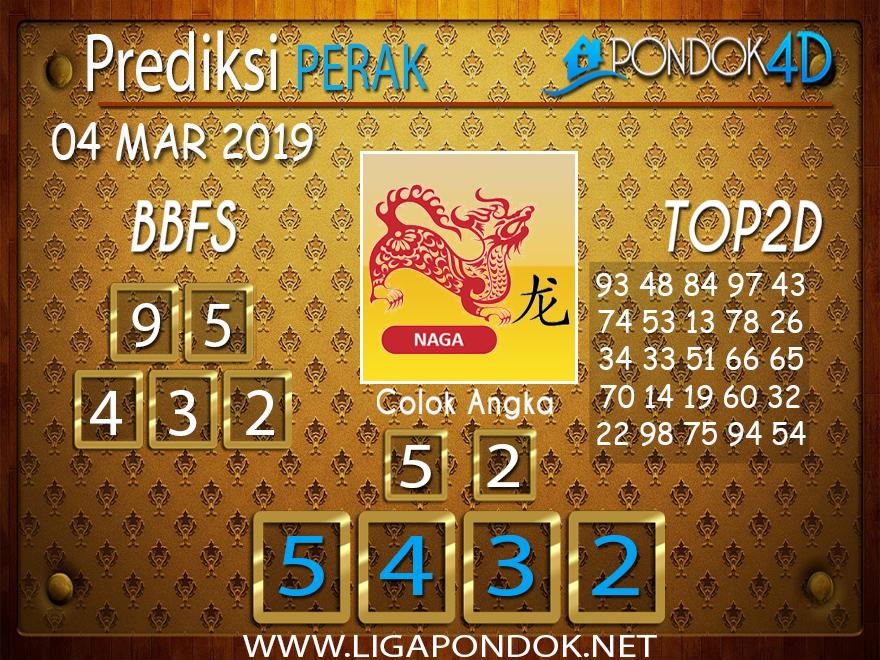 Prediksi Togel PERAK PONDOK4D 04 MARET 2019