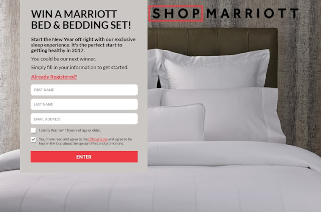 ShopMarriott wants you to start off the New Year in style with an exclusive sleep experience by entering to win this gorgeous bed and a complete bedding set!