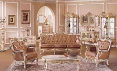 sofa tamu kulit model eropa