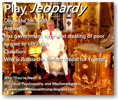 funny trump putin russia meme: Why is Russia the Perfect Model for Trump for Government? Because it's an elitist wealthy business owner run government: The Russian Oligarchy