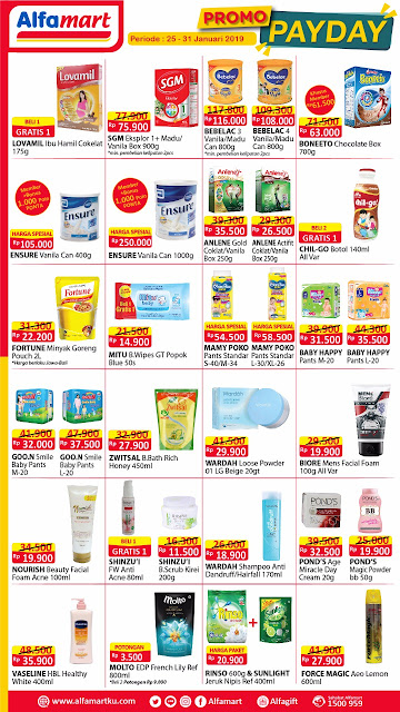 Promo Alfamart Pay Day 25 - 31 Januari 2019