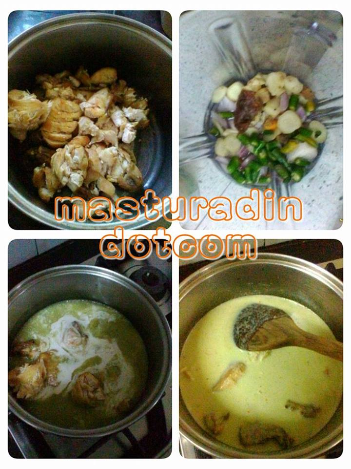 resepi pecel ayam, cara buat ayam masak pecel, menu ayam, menu berbuka puasa