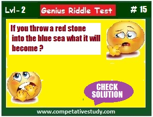 If you throw a red stone into the blue sea what it will become?