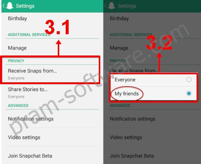 Pengaturan Privacy di Snapchat