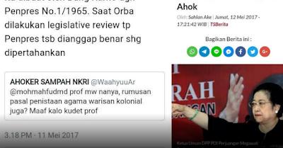 Megawati Akan Gugat Pasal Penistaan Agama yang Padahal Dibuat Bapaknya Sendiri